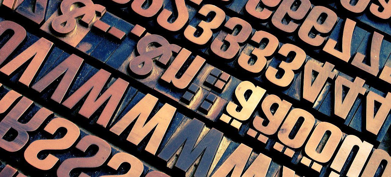 アルファベットが沢山あるイメージ